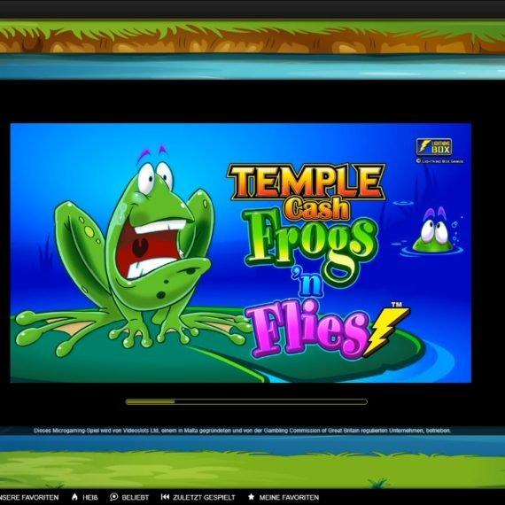 Temple Cash – Frogs 'n Flies – 26 Spin Testbericht