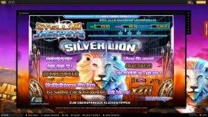 Stellar Jackpots with Silver Lion header